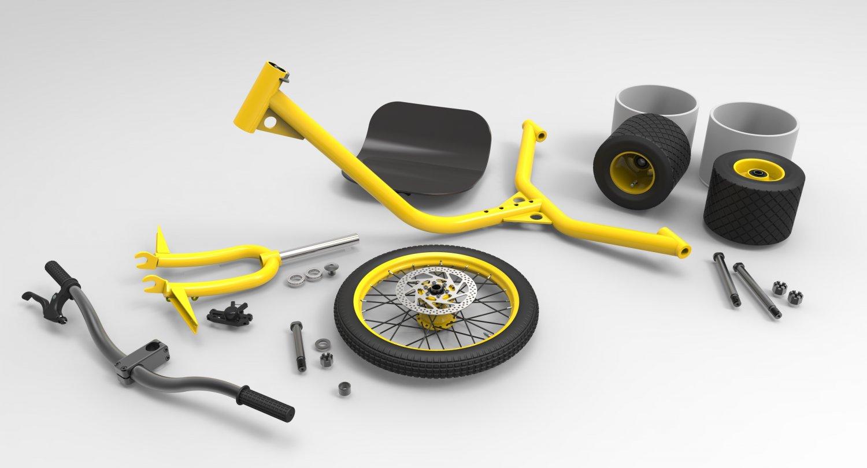 Drift trike 3D model
