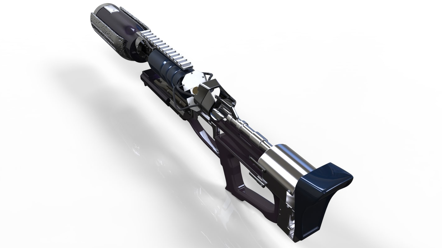 Futuristic weapon 3D model