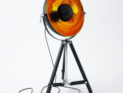 Gold Tripod Lamp