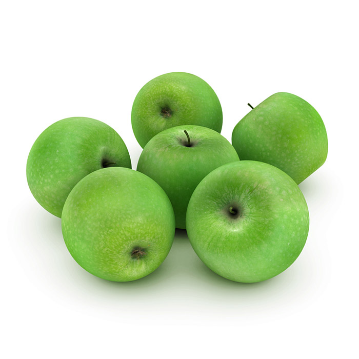 Green apples 3D model