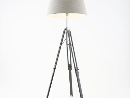 Grey Tripod Lamp