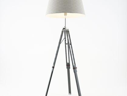 Grey Tripod Lamp