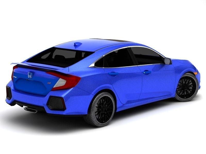 Honda Civic Si HQ 3D model
