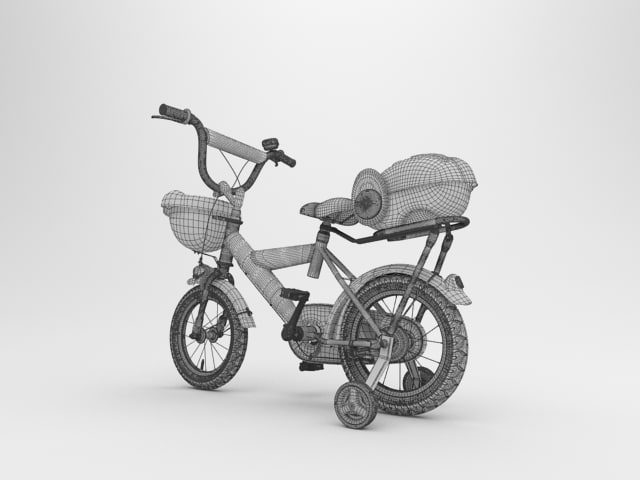Kids Bicycle 3D model