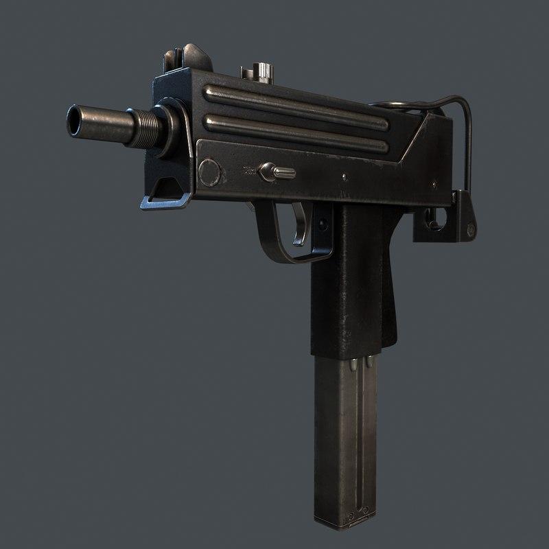 Machine Pistol MAC11 3D model