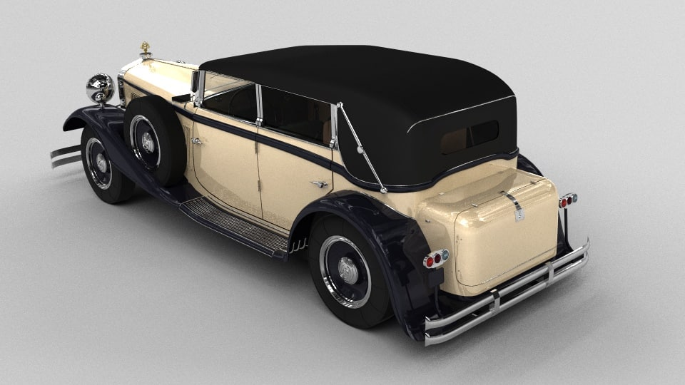 Maybach DS8 Zeppelin 1938 3D model