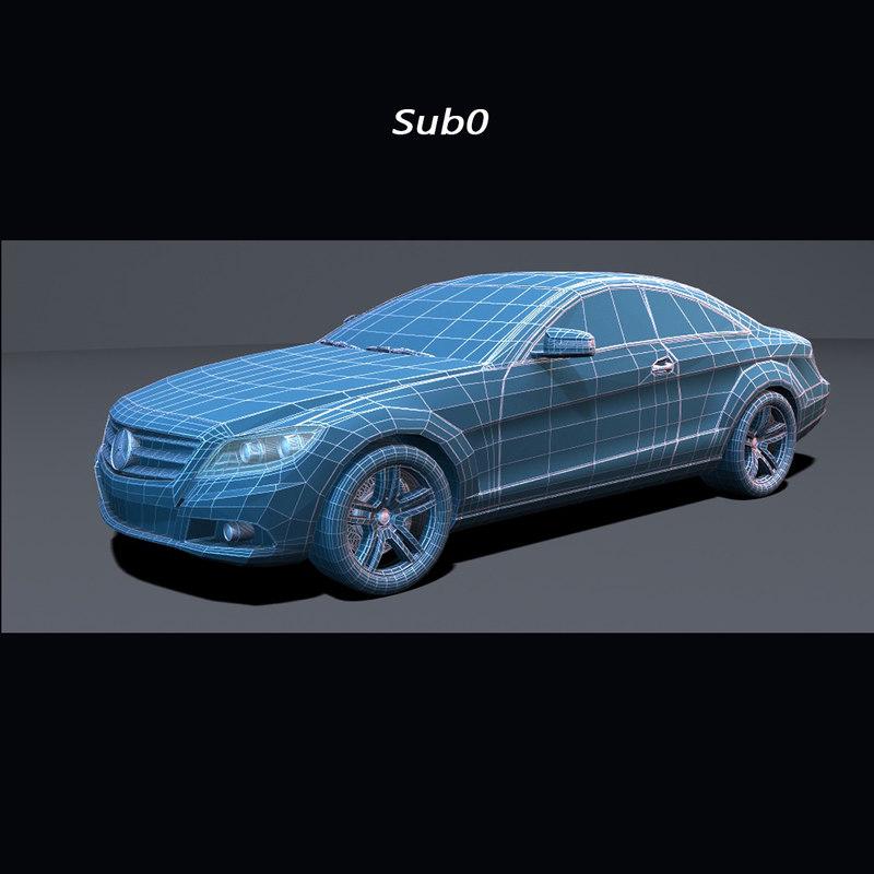 Mercedes Benz CL Class 2010 3D model