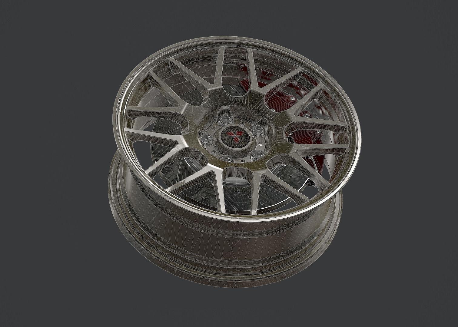 Mitsubishi Lancer Evolution X 3D model