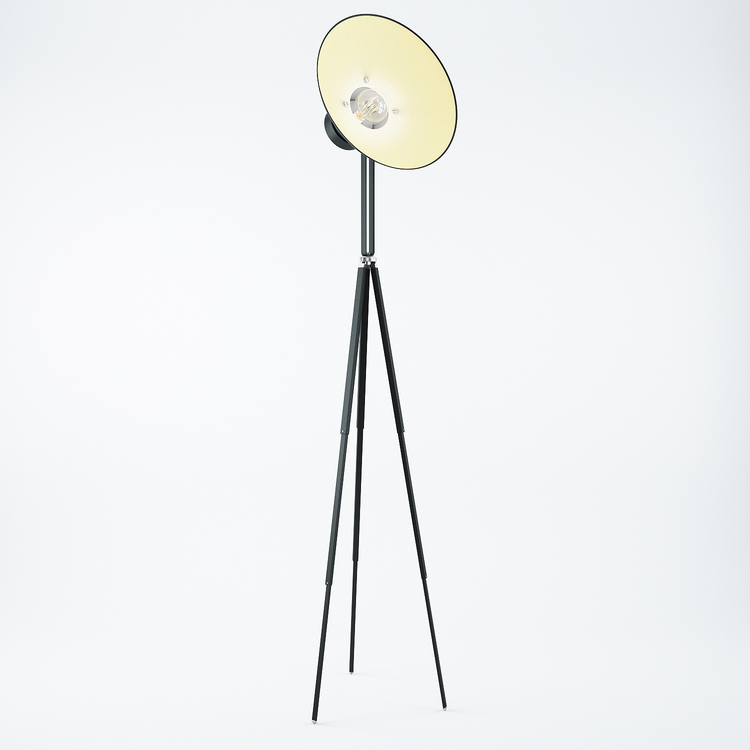 Modern Tripod Lamp 3D model