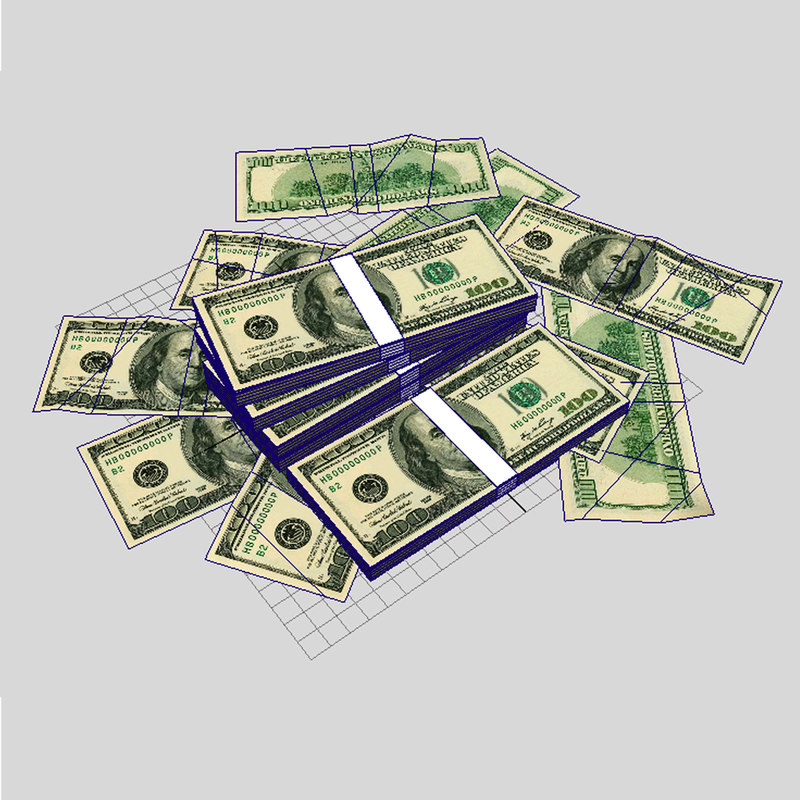 Money USD 3D model