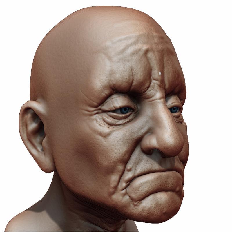 Old Man Head 3D model