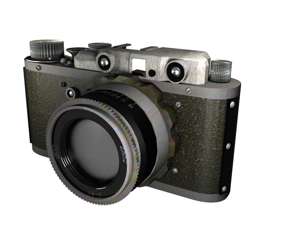 Old Soviet Photo Camera 3D model