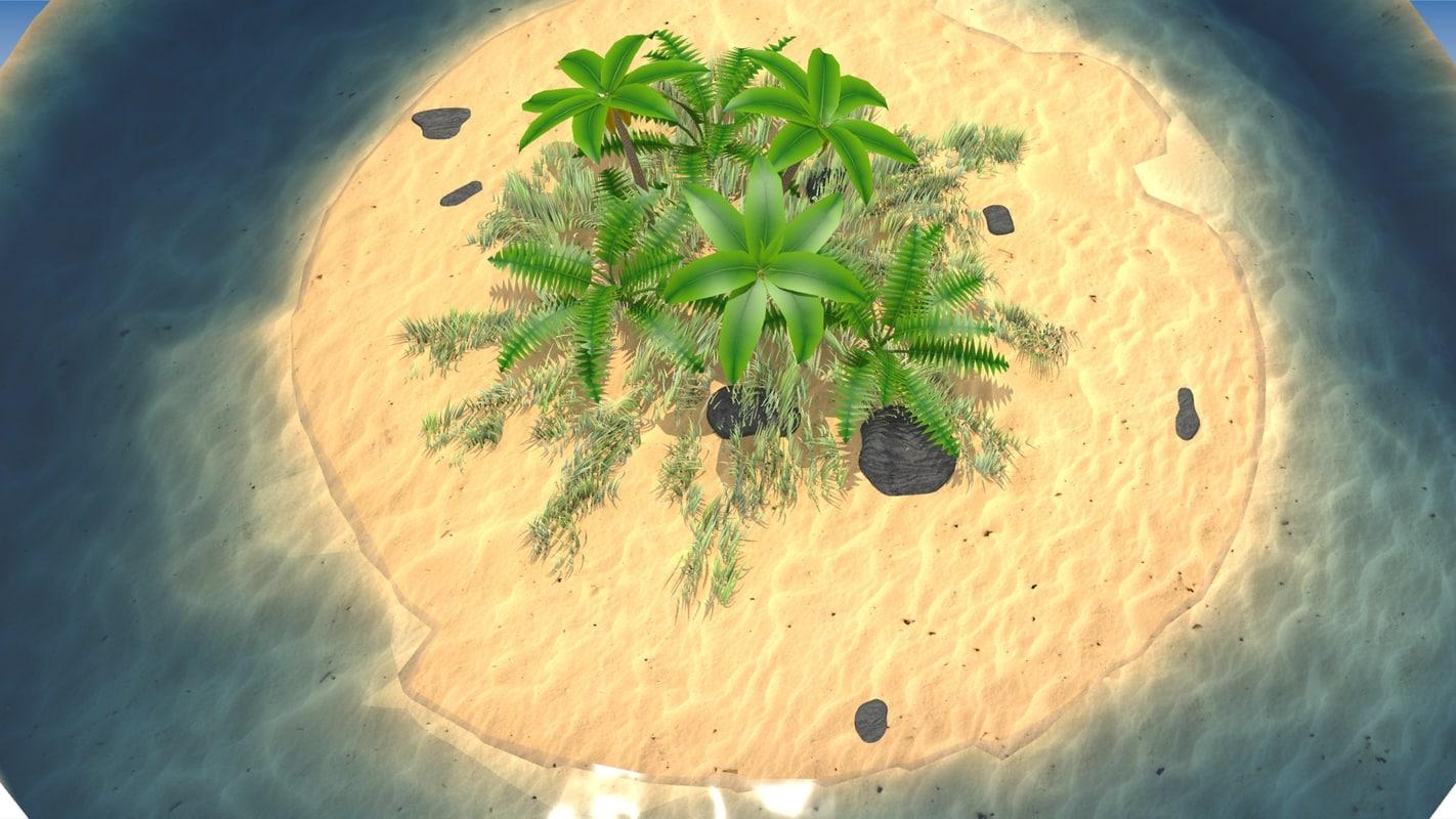 Palm island 3D model