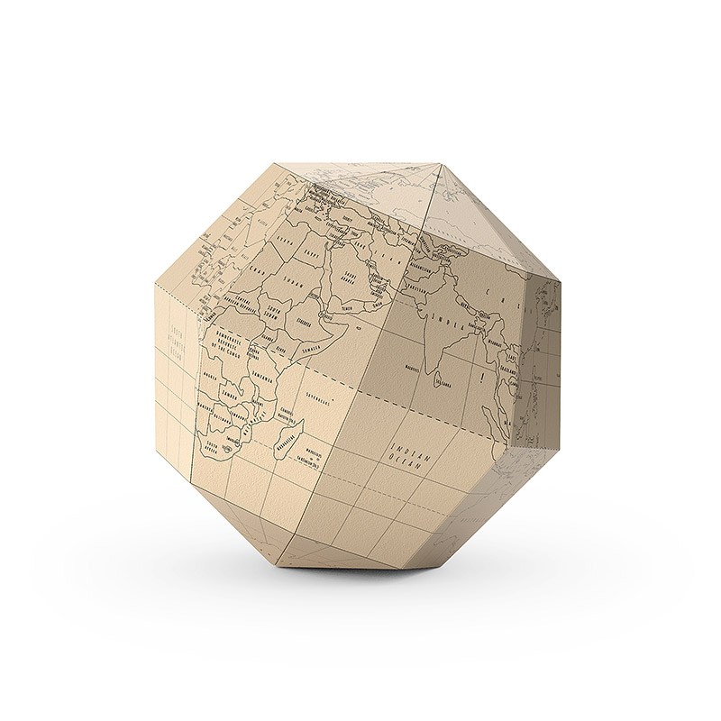 Paper globe 3D model