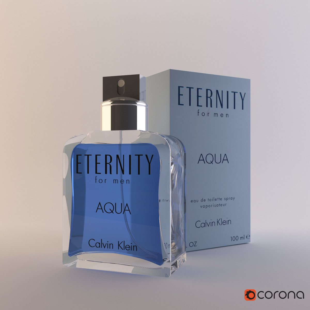 Perfume Calvin Klein Eternity 3D model