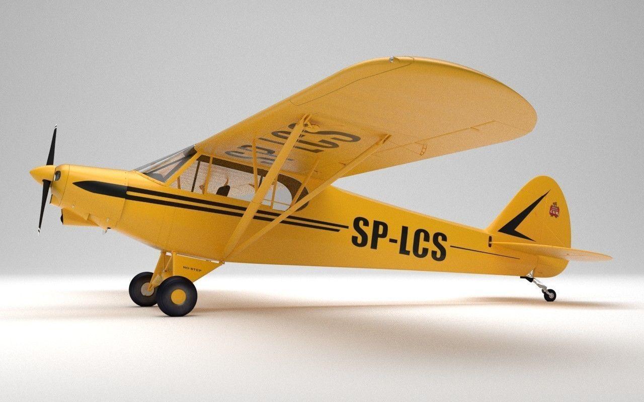 Piper PA-18 Super cub 3D model