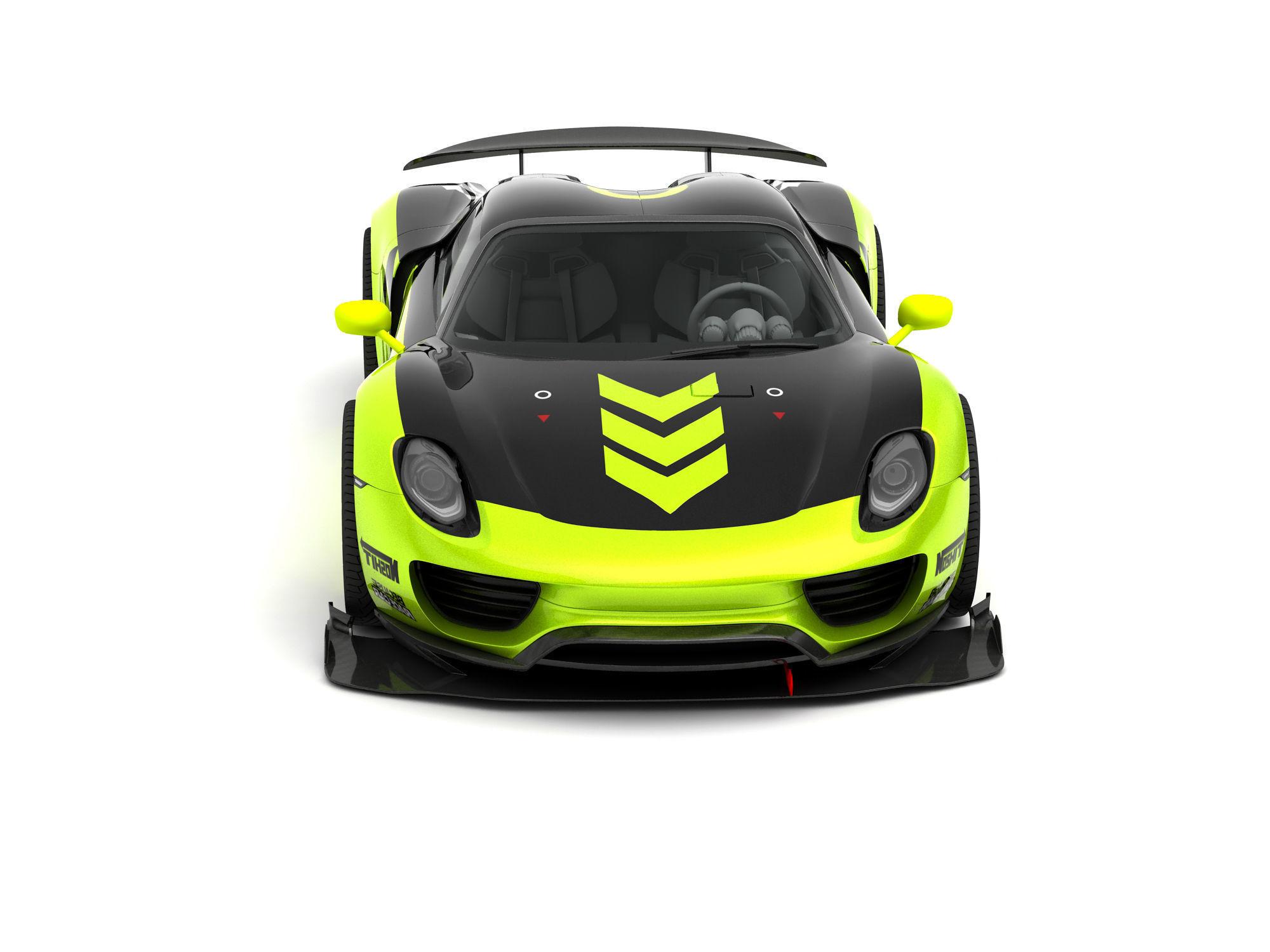 Porsche Chimera 918 Concept 3D model