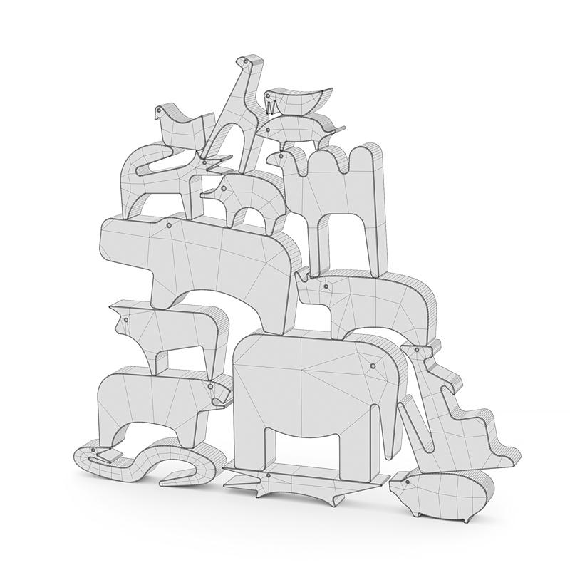 Puzzle animals 3D model