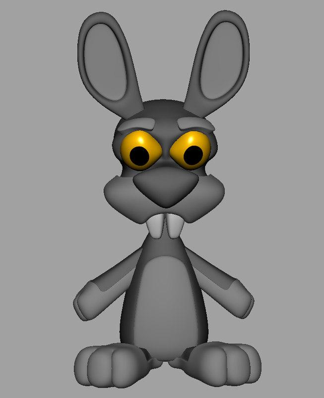 Rabbit Cartoon 3D model