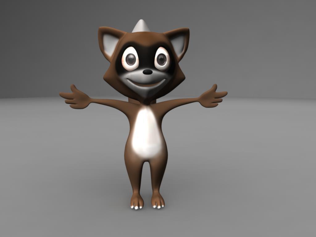 Raccoon 3D model