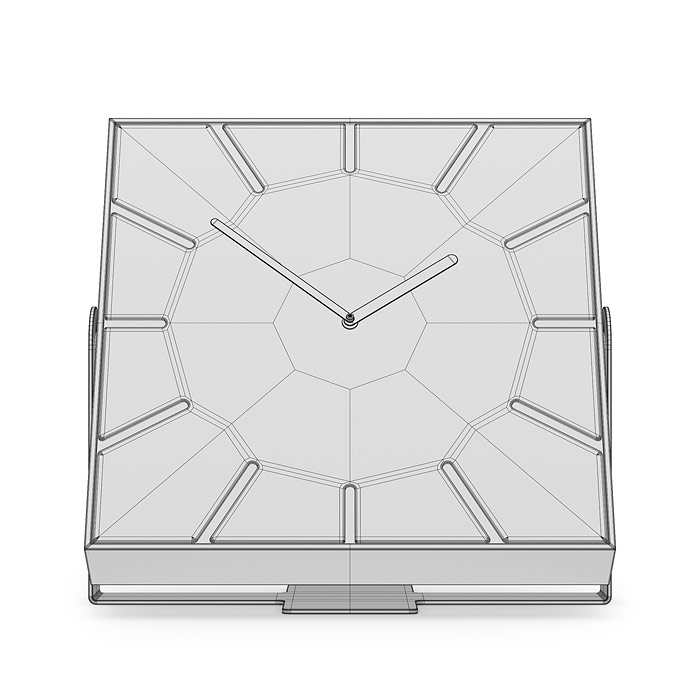 Rectangular clock 3D model