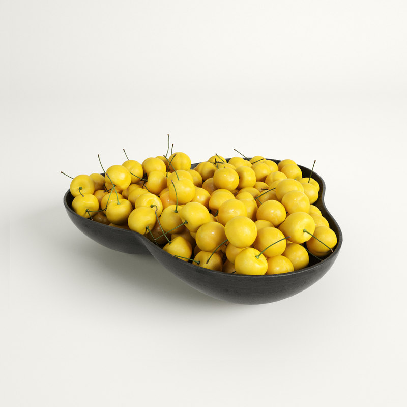 Red and Yellow Cherries 3D model
