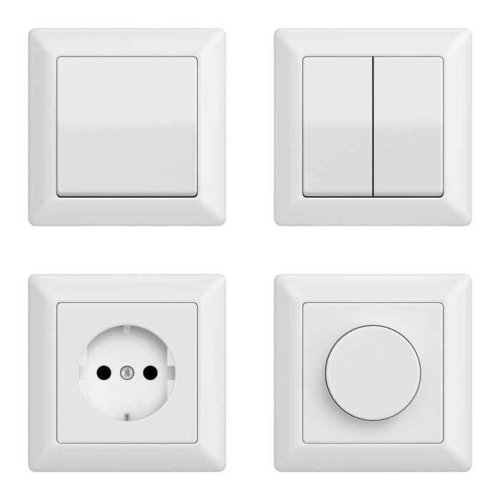 Simple switches and sockets 3D model