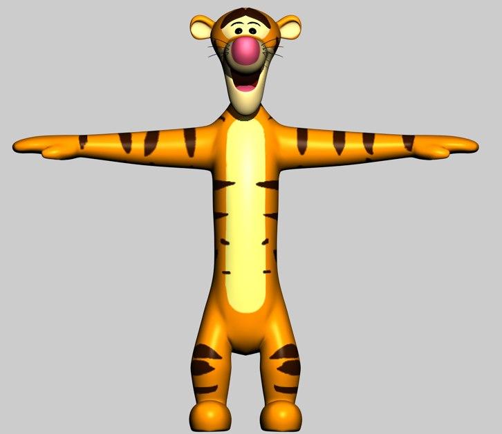 Tigger 3D Model Download For Free