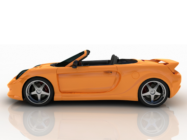 Toyota yellow sports car 3D model Download for Free