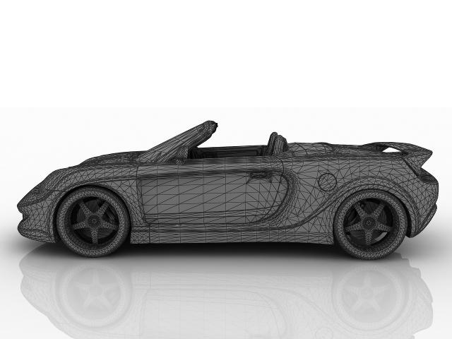 Toyota yellow sports car 3D model