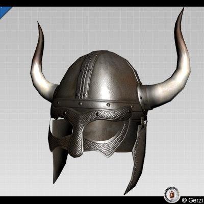 Viking Horned Helmet 3D model