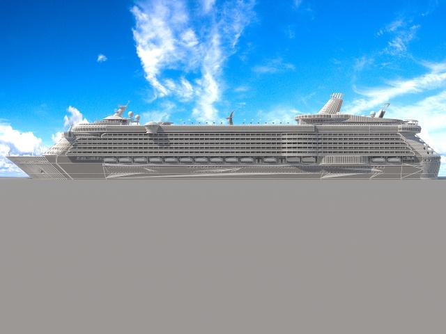 Сruise liner 3D model