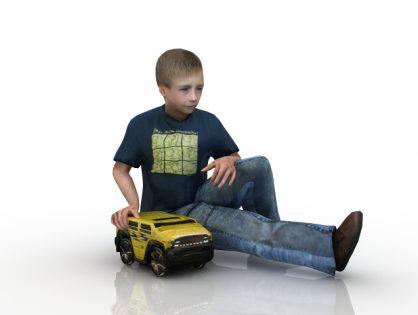 Boy with a car