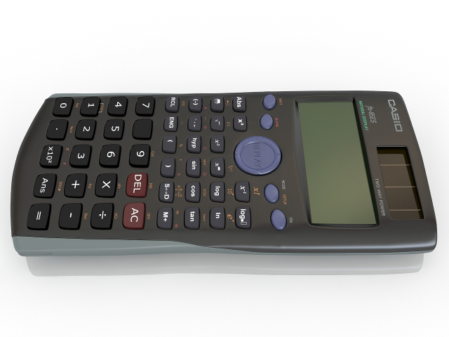 Calculator Casio 3D model