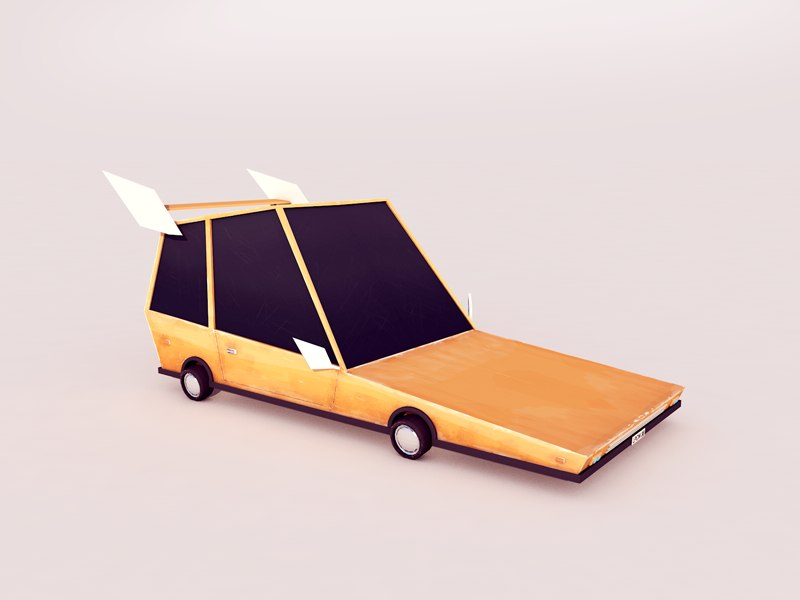 Cartoon Low Poly Car 3d Model Download For Free