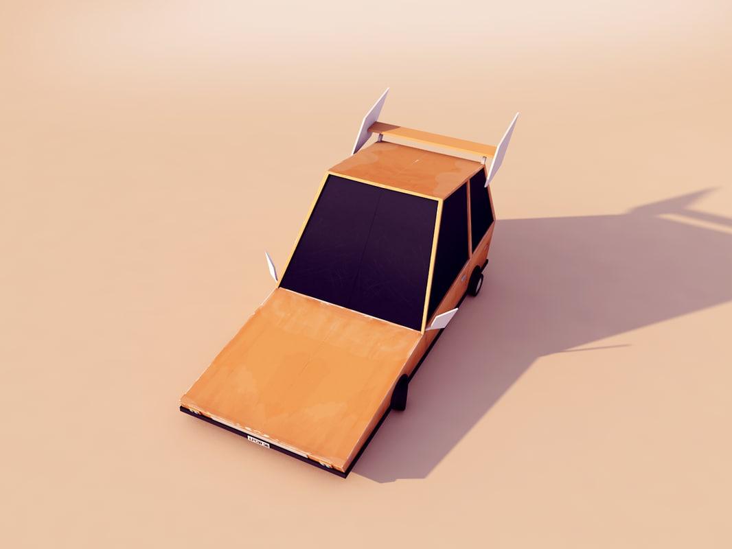 Cartoon Low Poly Car 3D model