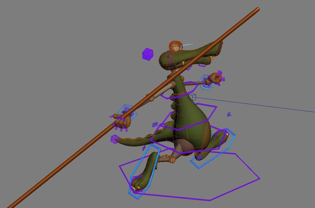 Crocodile Dan 3D model