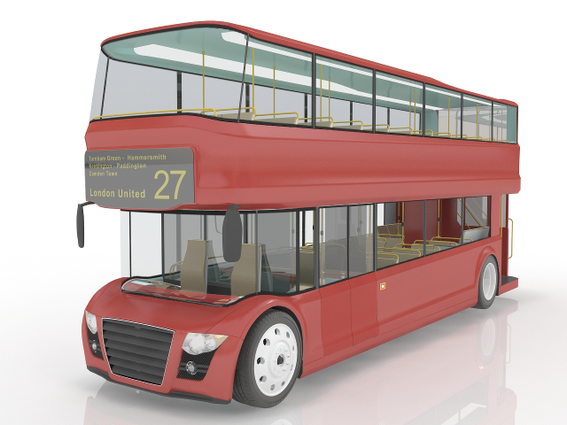 Double-decker bus 3D model