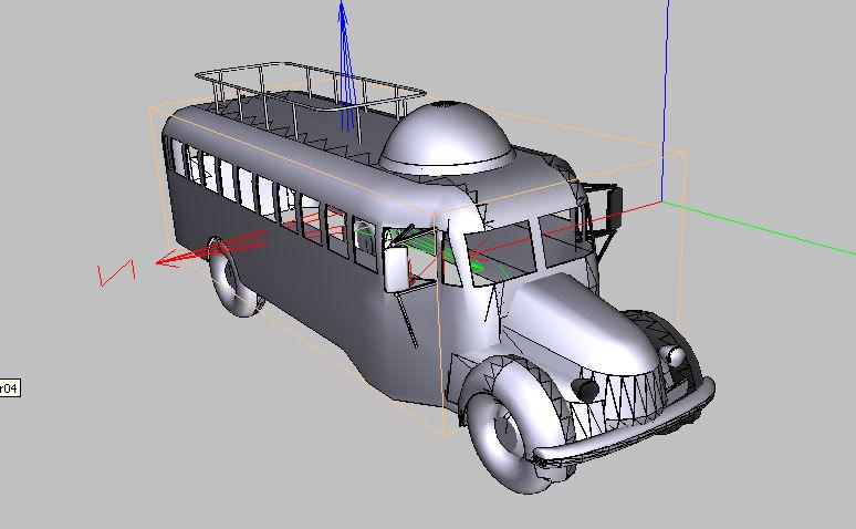 Furthur Bus 3D model