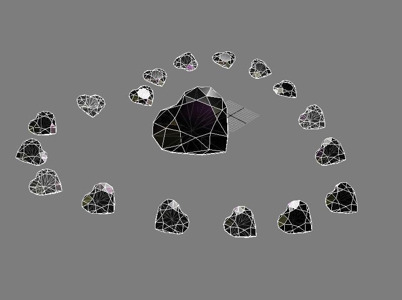 Hart diamon 3D model