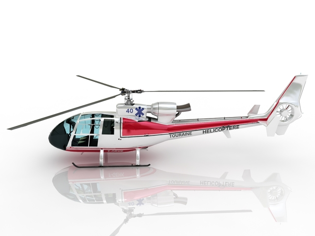 Helicopter TOURAINE 3D model