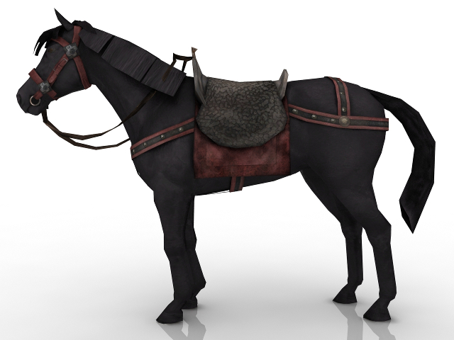 Equipped Horse 3D model