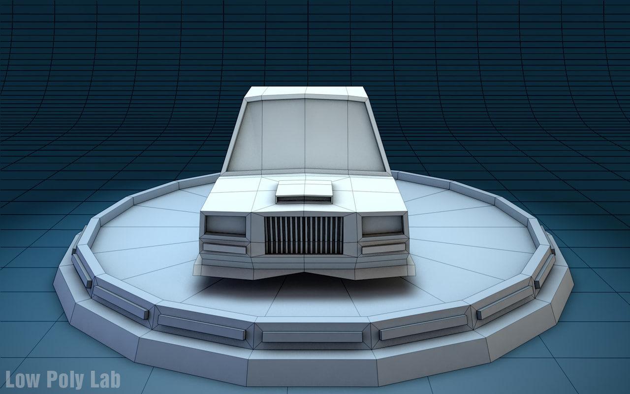 Low Poly Racing Car 3D model