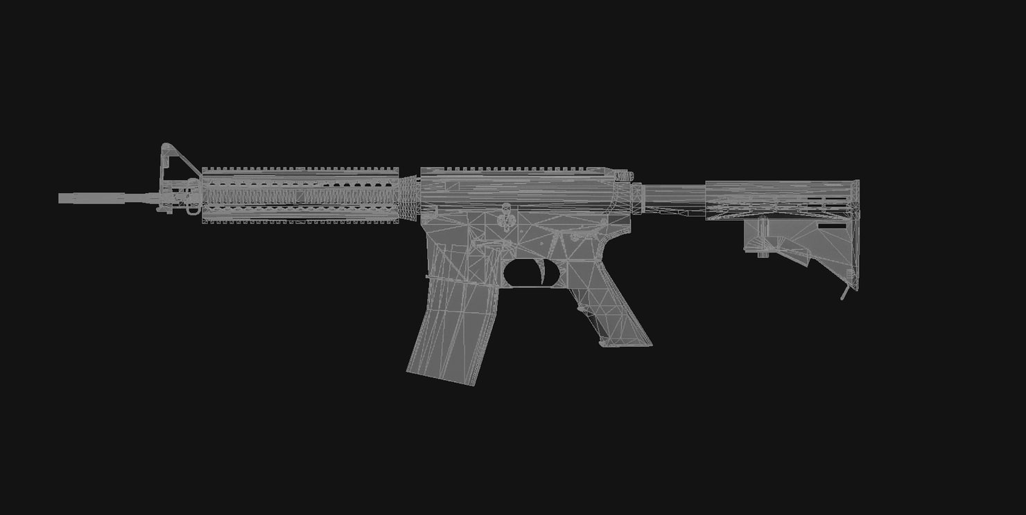 M4A1 Camouflage Green 3D model