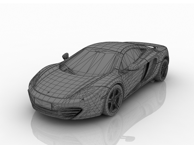 McLaren MP4 3D model