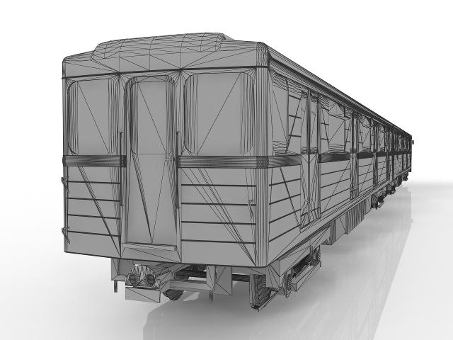 Metro Train 3D model