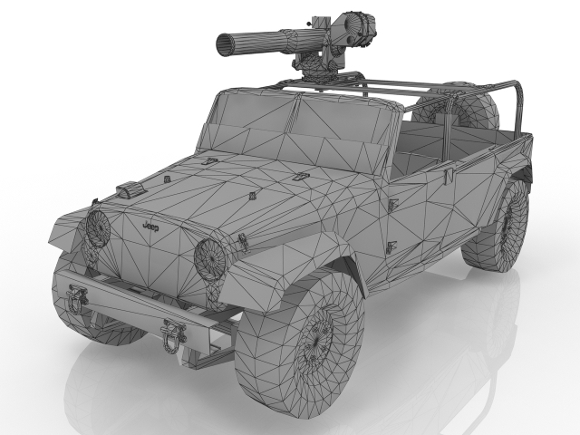 Military Jeep 3D model