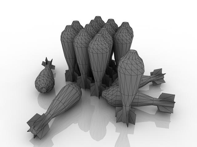 Mines for mortar 3D model