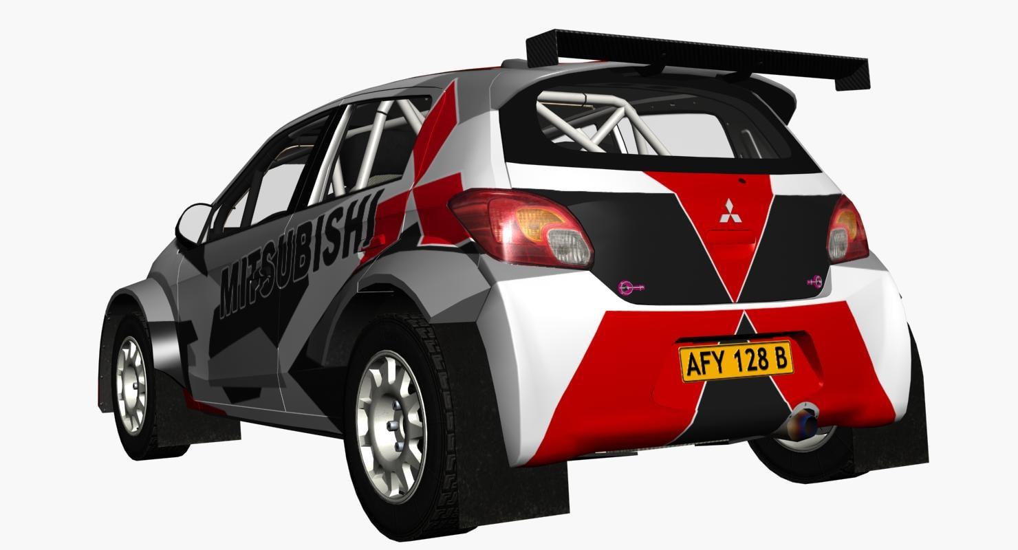 Mitsubishi R5 Rally 3D model