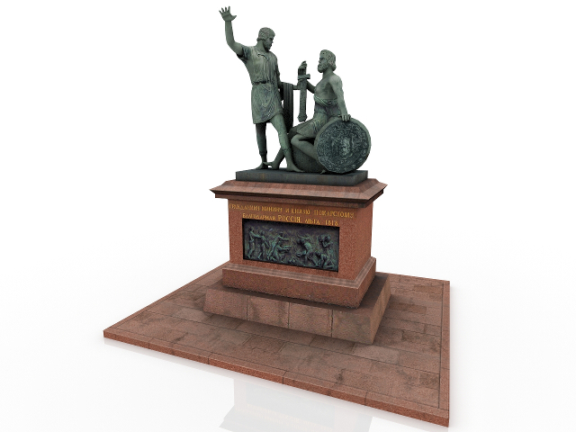 Monument to Minin and Pozharsky 3D model